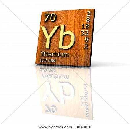 Ytterbium form image photo free trial bigstock ytterbium form periodic table of elements wood board urtaz Choice Image