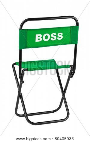 Boss chair isolated on white background