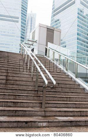 Stairs To Footbridge