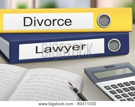 Divorce And Lawyer Binders
