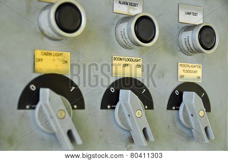 Close up of an Electric meter,Electric utility meters for an apartment complex