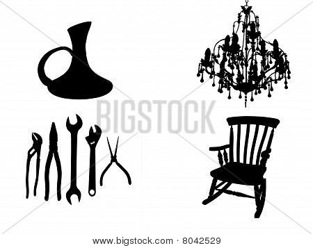 Home Objects In Silhouette