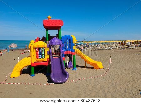 Toys on the beach,livorno,tuscany,italy
