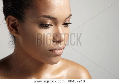 Pritty Woman With Ideal Skin