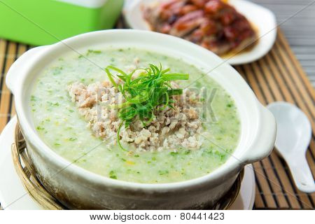 Minced Meat Congee