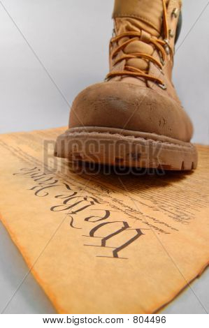 Stepping on the Constitution