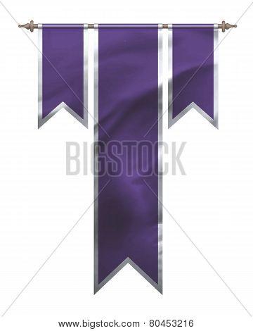 Purple Triple Flag