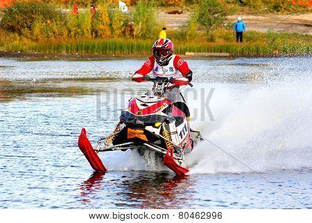Snowmobile Watercross