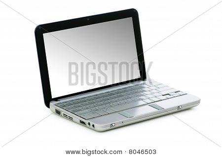 Stylish Netbook Isolated On The White Background