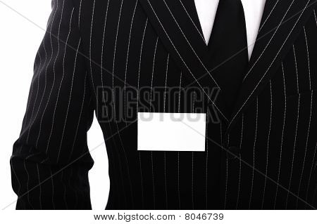 Empty business namebadge