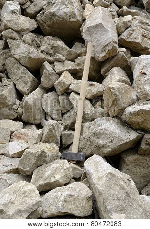 Stones Stack With Hammer