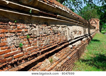 Ancient temple wall