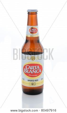 Carta Blanca Beer On White