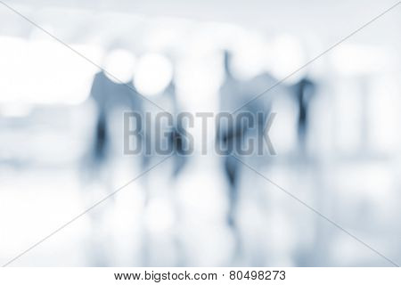 Abstract defocused image of business people (Note: the image is out of focus and suitable as people background)