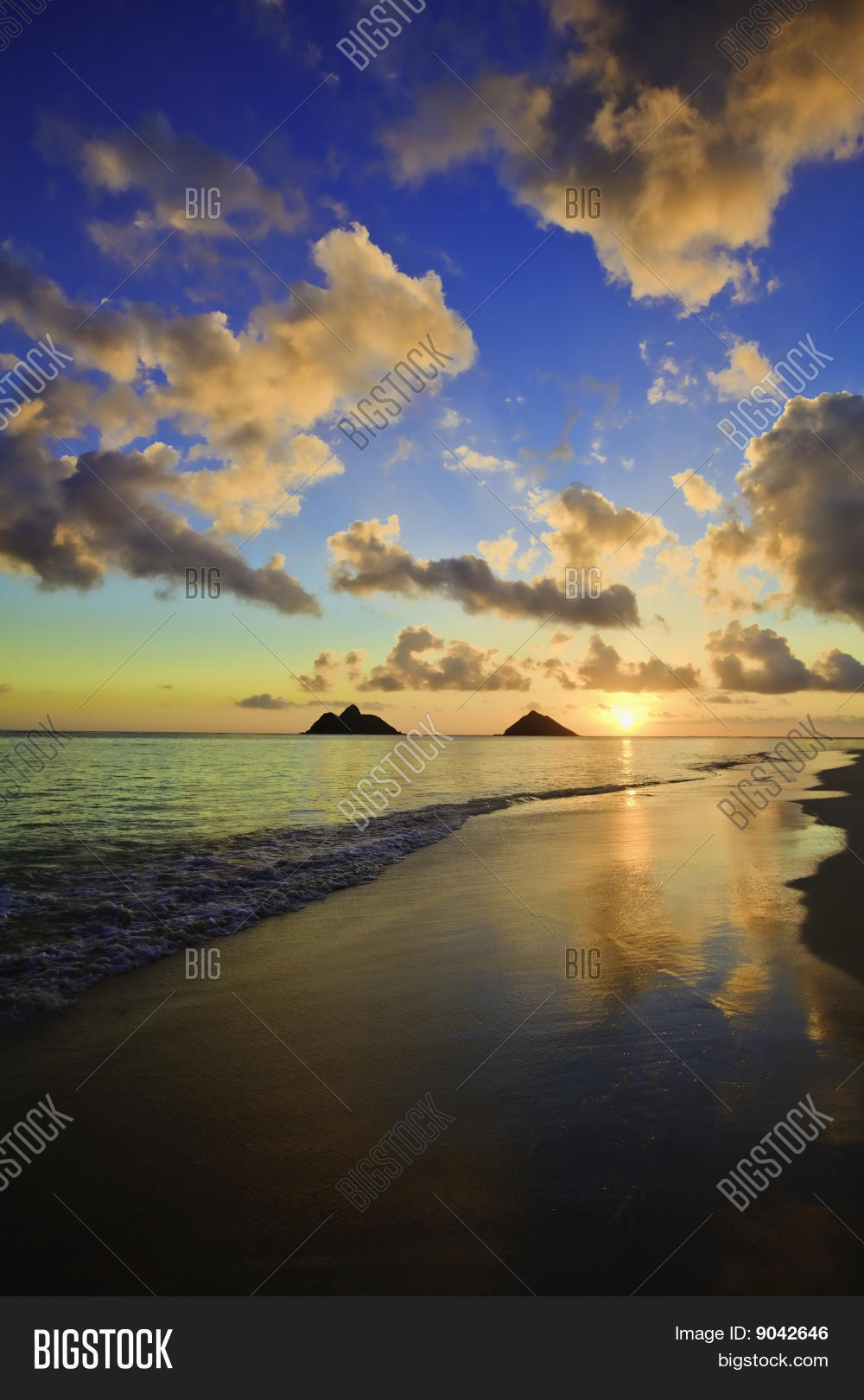 Sunrise Lanikai Beach Image Photo Free Trial Bigstock