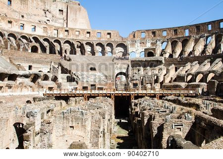 Inside The Colloseum At Rome