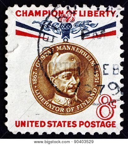 Postage Stamp Usa 1960 Baron Gustaf Emil Mannerheim