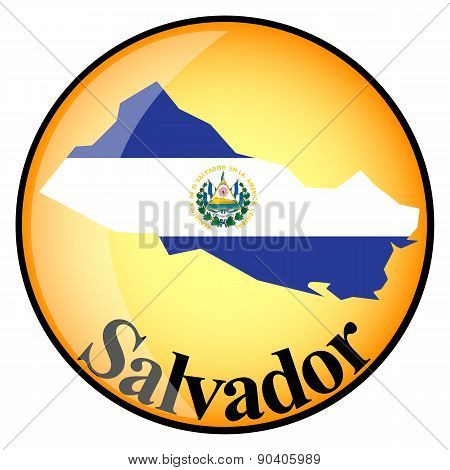 Orange Button With The Image Maps Of Salvador