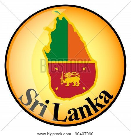 Orange Button With The Image Maps Of Sri Lanka
