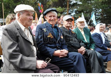 The Unknown Veterans On The Victory Day