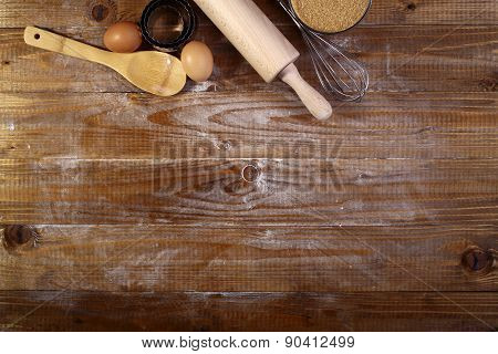 Ingredients And Appliances For Cooking