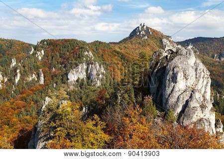 Autumnal View From Sulov Rockies - Sulovske Skaly