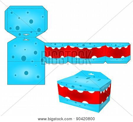 Paper cube for children games and decoration. Papercraft in vector.Die paper boxes templates with ca