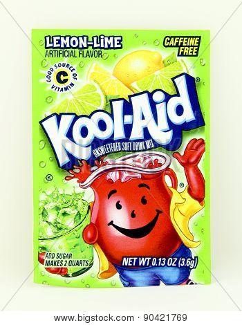 Package Of Lemon Lime Flavored Kool-aid