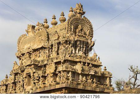 Apex Of The Gopuram Over Entrance Gate.