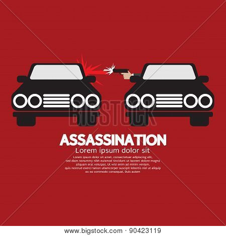 Assassination Shooting From The Car.