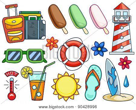 Summer Illustrations Set