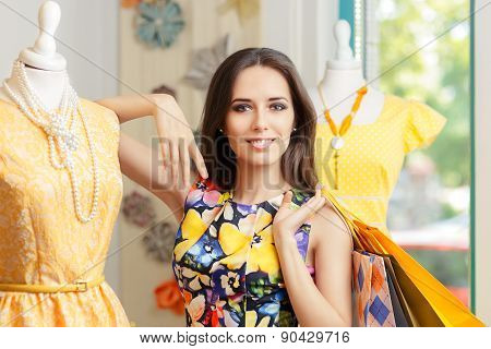 Woman Shopping in Fashion Store