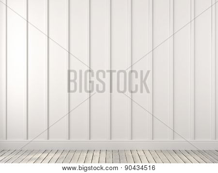 A White Wall With Vertical Stripes