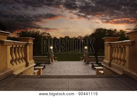 Empty entrance to the garden