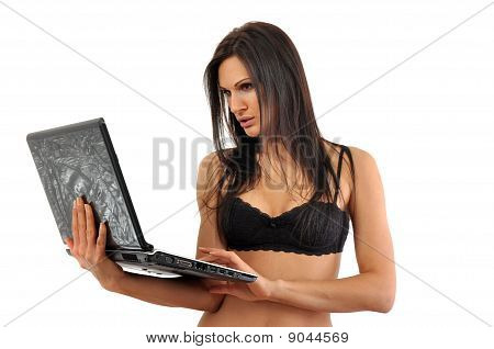 Business Woman In Lingerie