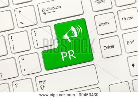 White Conceptual Keyboard - Pr (green Key)