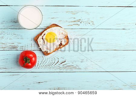 Rustiv lunch on the rustic cian wood table poster