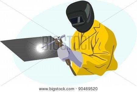 Yellow welder