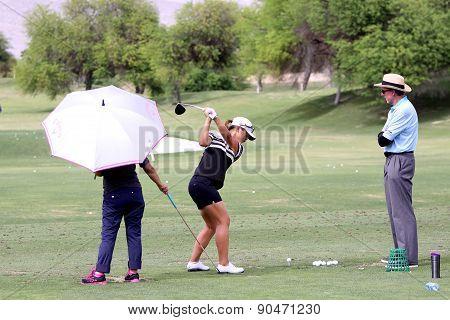David Leadbetter And Lydia Ko At The Ana Inspiration Golf Tournament 2015