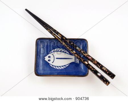 Chopsticks And Saucer