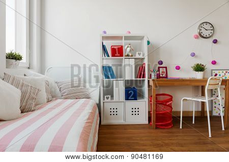 Child's Room In Pastel Colors