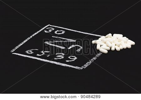 Zinc Capsule Supplementary  Food  Periodic  Table Vitamin