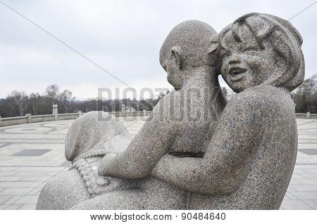 Sculpture Of Children In Vigeland Park Museum