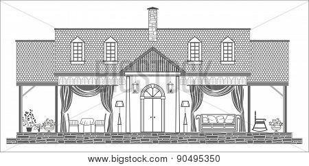 House Interior Silhouette