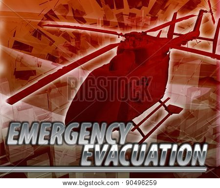 Abstract background digital collage concept illustration emergency helicopter evacuation