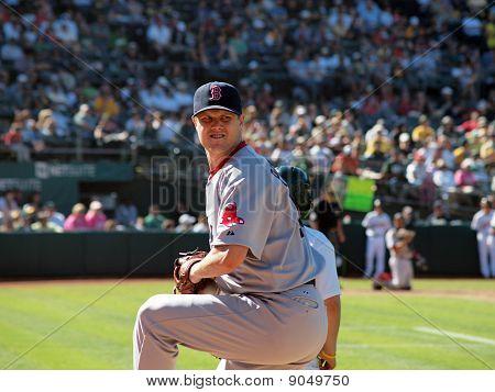 Red Sox Closer Jonathan Papelbon Warms Up In Bullpen