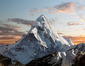 Evening view of Ama Dablam on the way to Everest Base Camp - Nepal poster