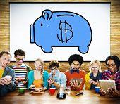 Piggy Bank Saving Money Economize Profit Concept poster