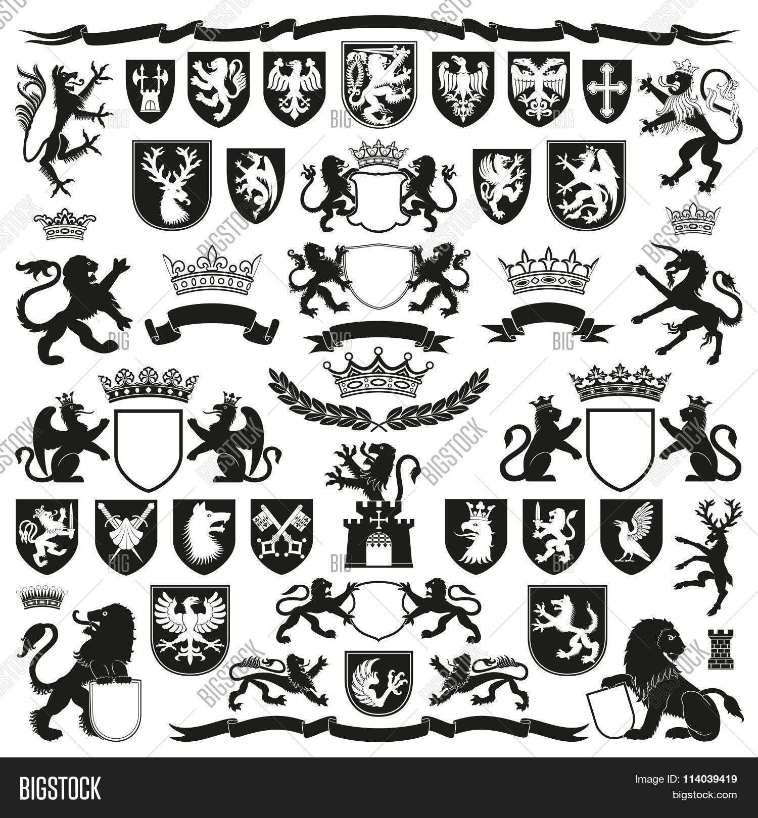 Heraldic Symbols Vectors Best Clipart For Pro User
