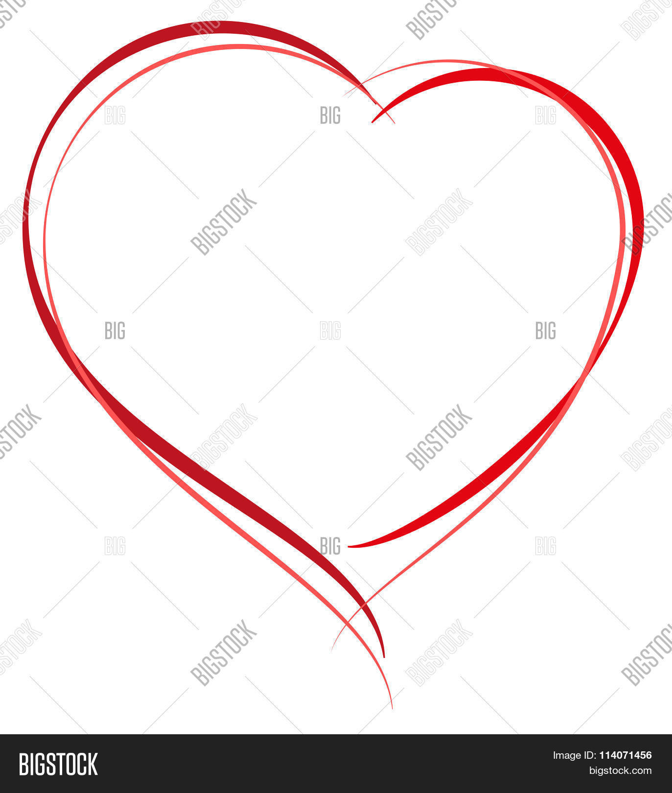 Heart Shape Symbol Vector Photo Free Trial Bigstock